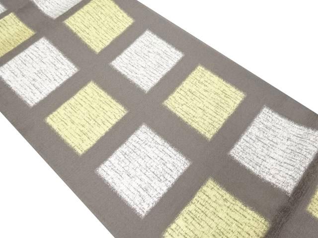 未使用品 金銀糸 色紙模様織り出し全通袋帯【リサイクル】【中古】