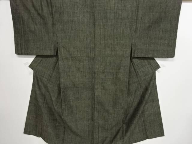 リサイクル 草木染手織り真綿紬男物着物アンサンブル(キングサイズ)【中古】