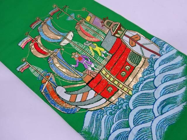 リサイクル 三代目龍村平蔵製 船蛮舶織出し本袋帯【中古】