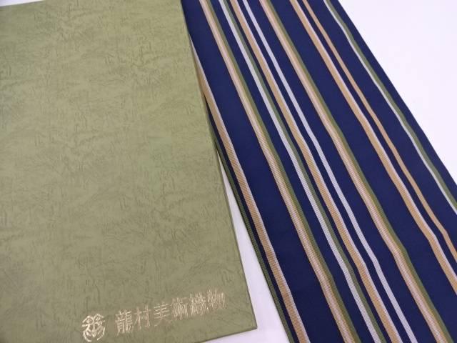 龍村美術織物 たつむら製 とくさ間道袋帯(未仕立て)【q新品】