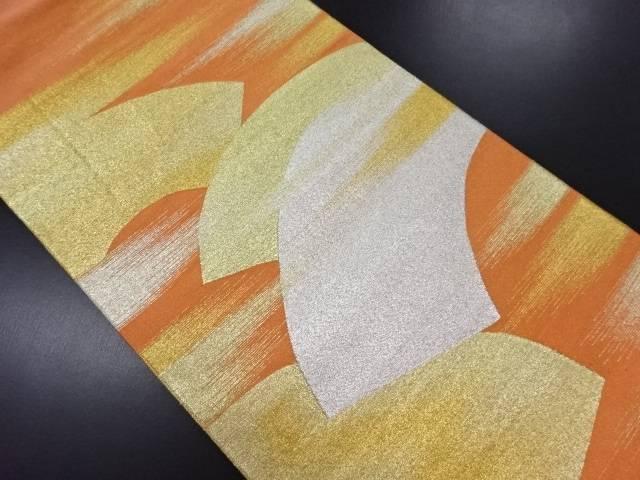 綴れ霞に地紙模様織り出し袋帯【リサイクル】【中古】