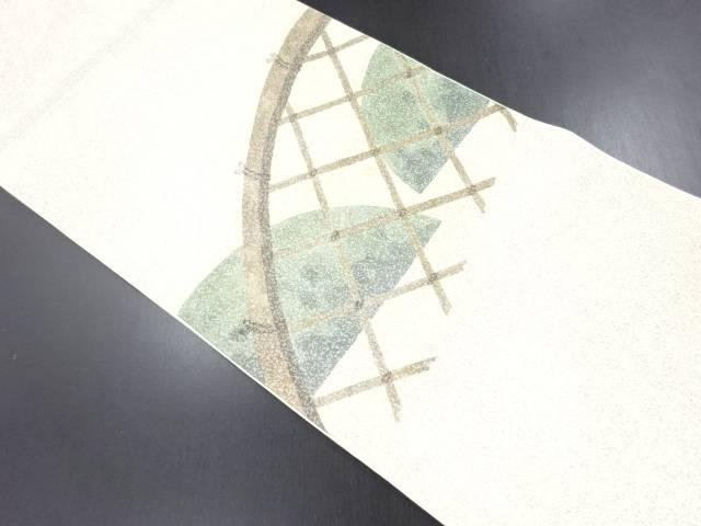 未使用品 引き箔蛇籠模様袋帯【リサイクル】【中古】