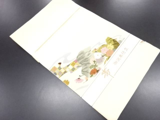 未使用品 本綴れ流水に蔦の葉菊模様織り出し名古屋帯【リサイクル】【中古】