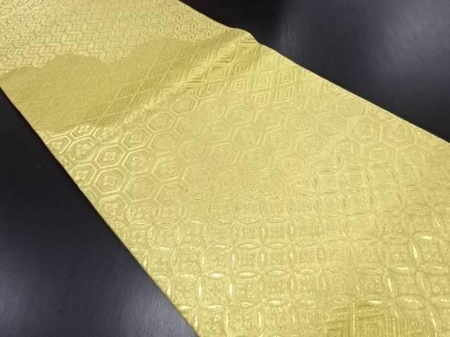 金糸古典柄織り出し全通袋帯【リサイクル】【中古】
