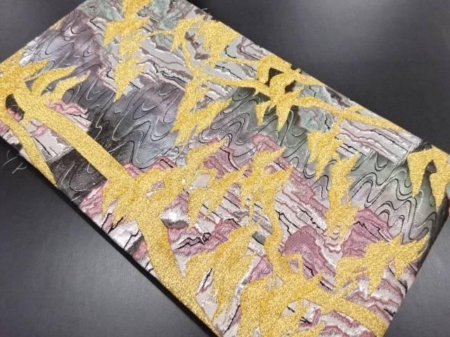 未使用品 本金流水に松模様織り出し袋帯【リサイクル】【中古】