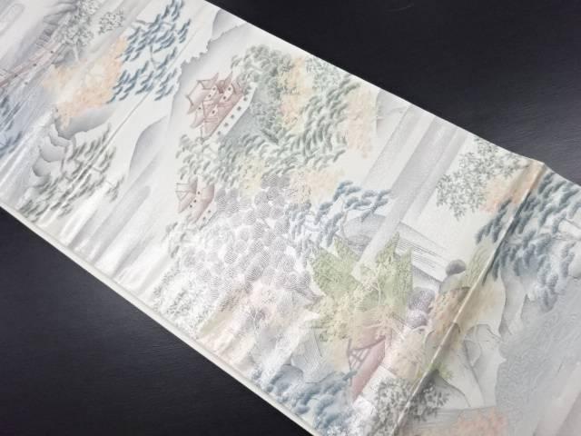 未使用品 引箔風景模様袋帯【リサイクル】【中古】
