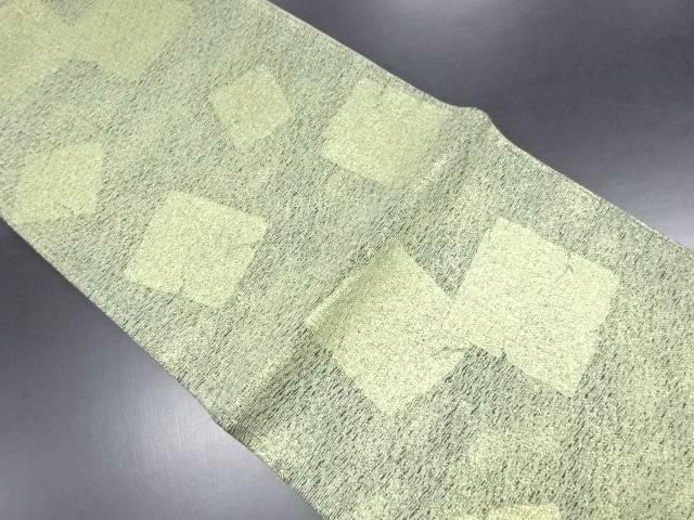 未使用品 本金すくい織割れ色紙模様織り出し袋帯【リサイクル】【中古】