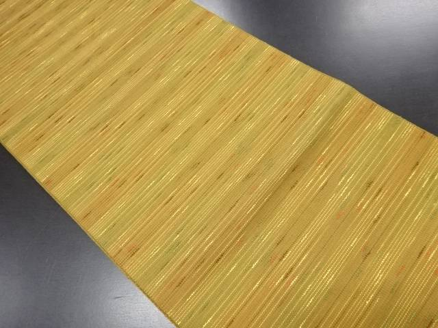 横段模様織り出し名古屋帯【リサイクル】【中古】