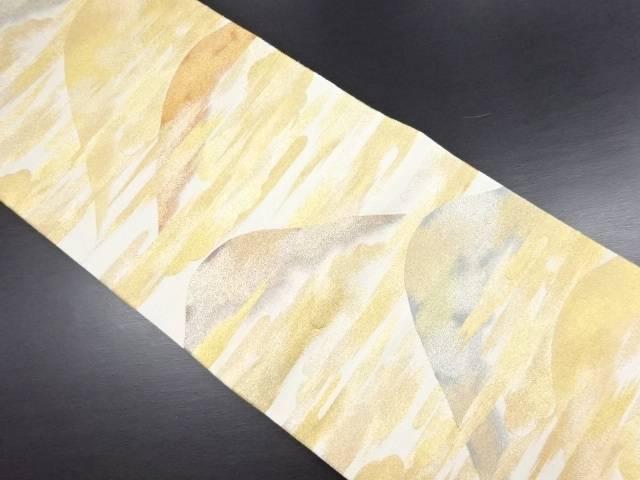 本金霞に遠山模様織り出し袋帯【リサイクル】【中古】, ミノチョウ:040b3c50 --- m2cweb.com
