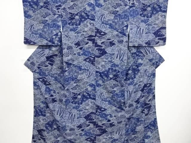 松竹梅に牡丹・菊模様小紋着物【リサイクル】【中古】小紋 着物 和風 和装 普段着