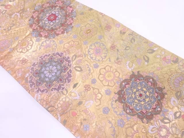 相良蘇州刺繍宝相華模様ぼかし袋帯【リサイクル】【中古】
