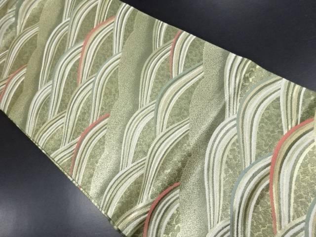 本金波模様織り出し名古屋帯【リサイクル】【中古】