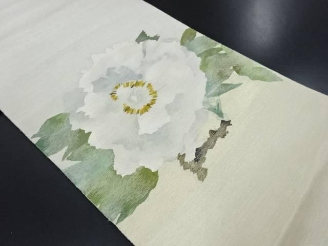 綴れ花模様織り出し袋帯【リサイクル】【中古】