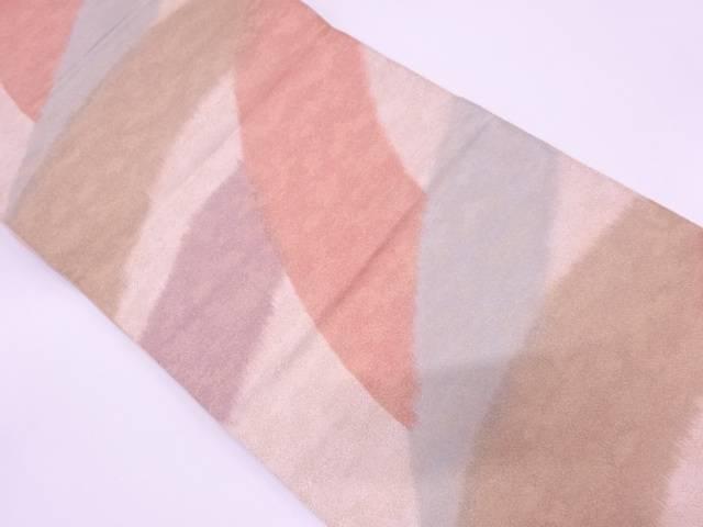 砂子綴れ抽象模様織出し全通袋帯【リサイクル】【中古】