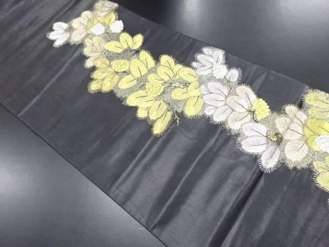 金銀糸松葉模様織り出し袋帯【リサイクル】【中古】
