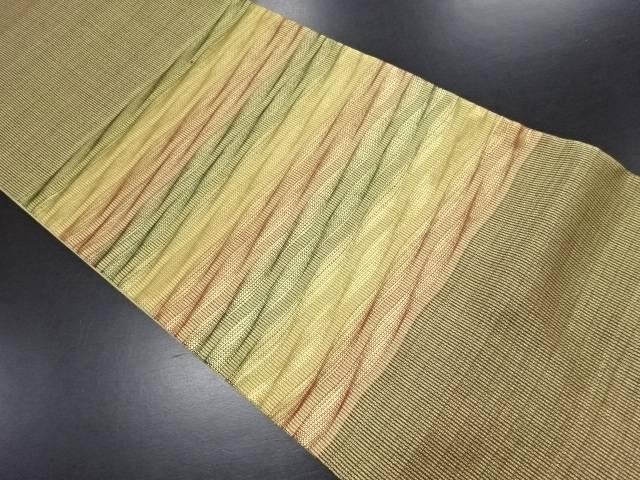 金糸よろけ横段織り出し袋帯【リサイクル】【中古】