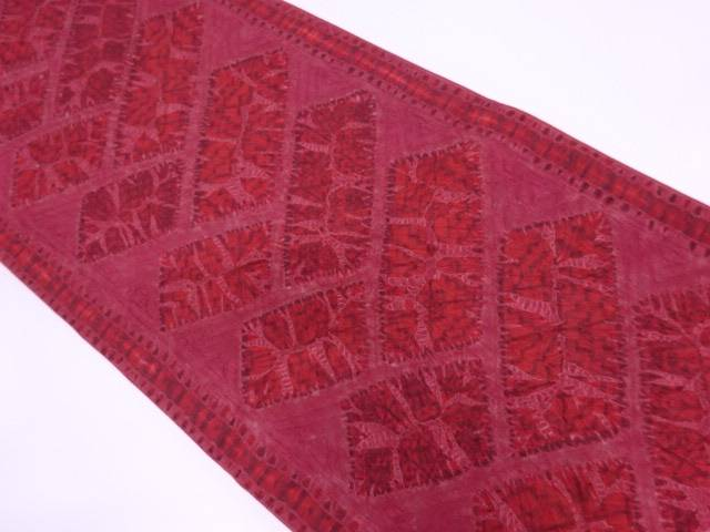 東京ますいわ屋纐纈抽象模様袋帯【リサイクル】【中古】