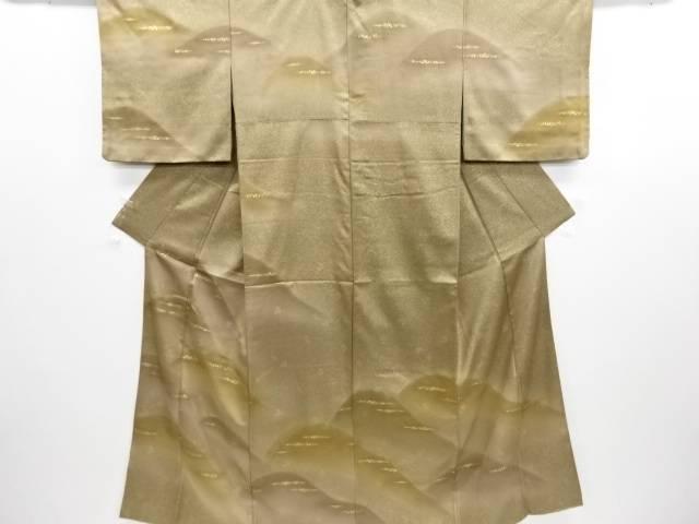 金彩遠山に霞模様刺繍訪問着(重ね衿付き)【リサイクル】【中古】フォーマル 和装 着物【09OFF】