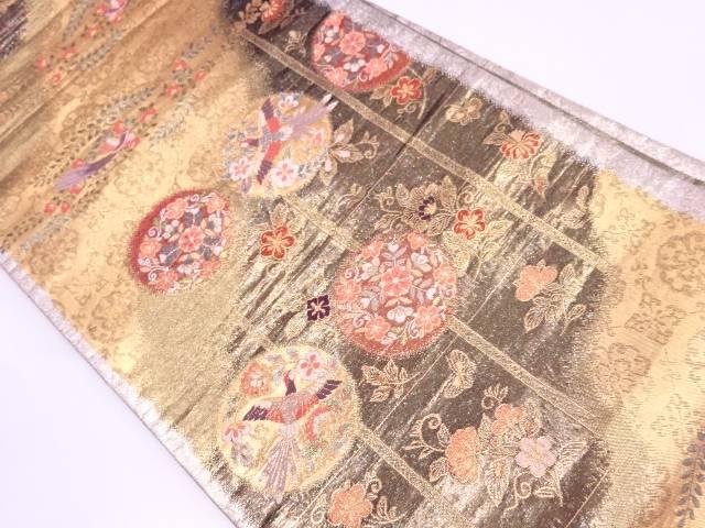 正倉院宝物丸文模様織出し袋帯【リサイクル】【中古】