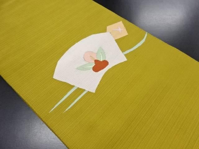綴れ 地紙に花模様織り出し名古屋帯【リサイクル 綴れ】【中古】, 熊本市:bb00fc55 --- insidedna.ai