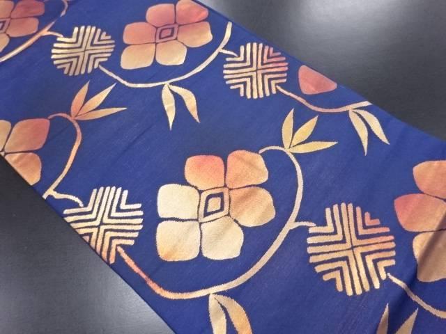 枝花模様織り出し名古屋帯【リサイクル】【中古】