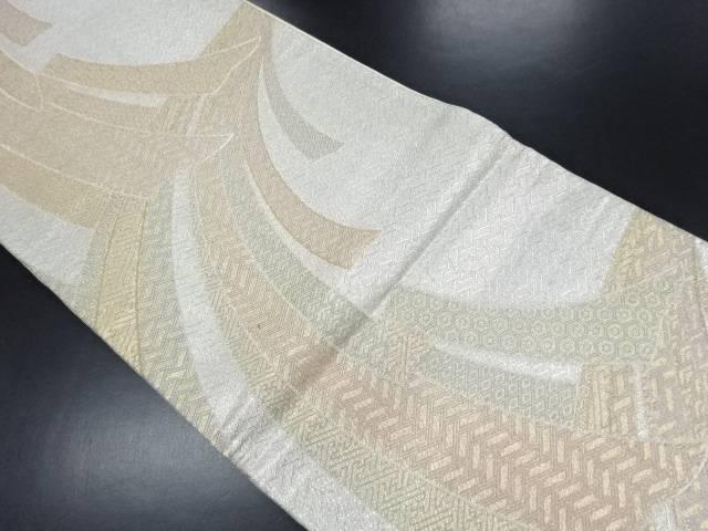 佐賀錦二重箔織熨斗に古典柄織り出し袋帯【リサイクル】【中古】