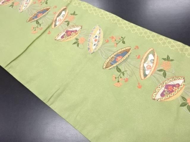 金糸 花笠模様織り出し袋帯【リサイクル】【中古】