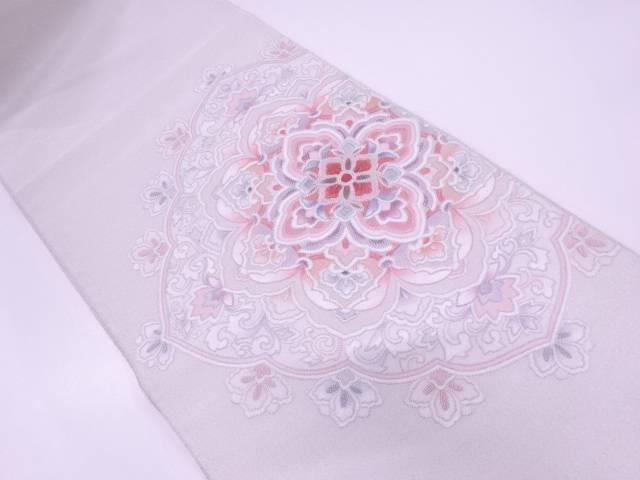 綴れ相良刺繍華紋模様袋帯【リサイクル】【中古】