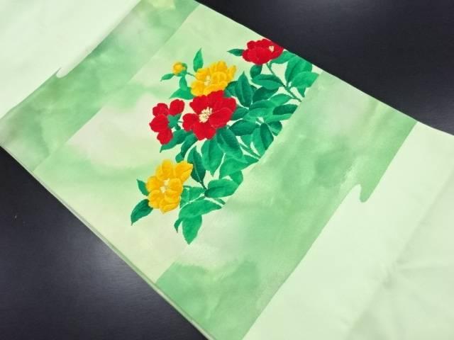 未使用品 草花模様織り出し名古屋帯【リサイクル】【中古】
