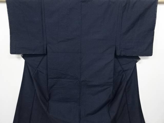 未使用品 亀甲絣柄織り出し手織り紬着物アンサンブル【リサイクル】【中古】