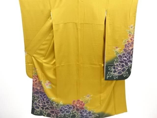 牡丹模様振袖・袋帯セット【リサイクル】【中古】【09OFF】
