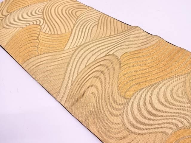 川島織物製 流水模様織出し袋帯【リサイクル】【中古】
