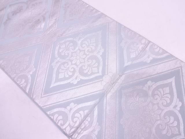 川島織物製 襷に花模様織出し袋帯【リサイクル】【中古】
