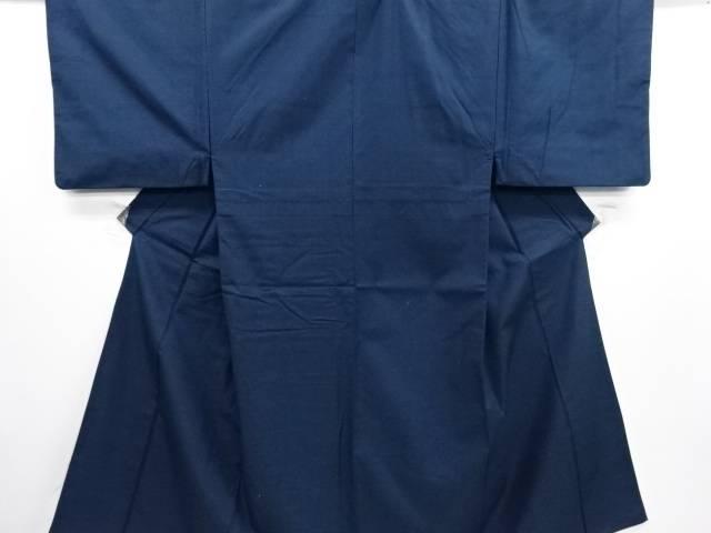 織柄手織り紬男物着物アンサンブル・長襦袢セット(キングサイズ)【リサイクル】【中古】