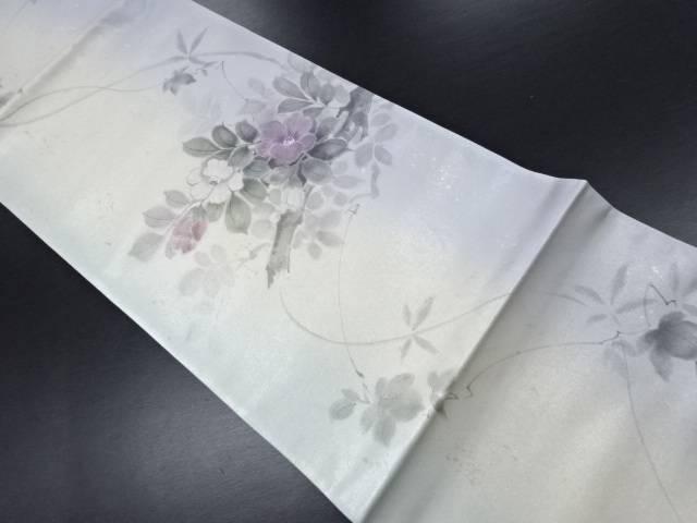 未使用品 手描き枝椿模様袋帯【リサイクル】【中古】