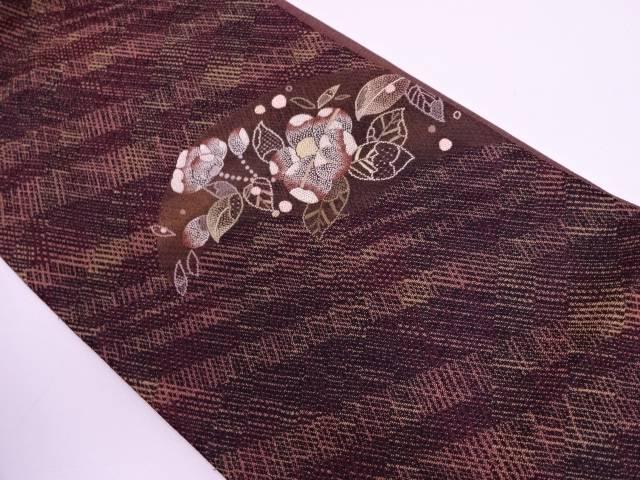 未使用品 相良刺繍草花模様袋帯【リサイクル】【中古】