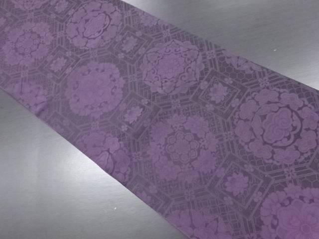 蜀江に華紋織り出し全通本袋帯【リサイクル】【中古】