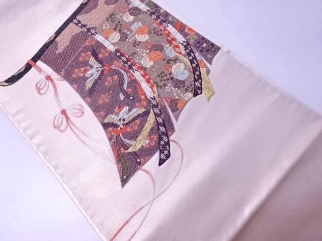 フォーマル用袋帯 几帳文様 金箔金糸【リサイクル】【中古】