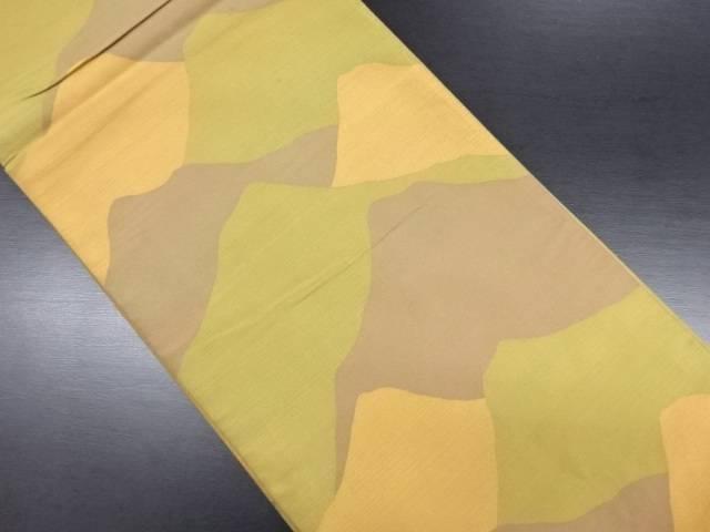 遠山模様織り出し全通洒落袋帯【リサイクル】【中古】