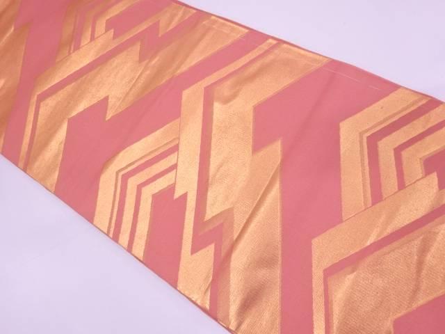 抽象模様織出し全通袋帯【リサイクル】【中古】