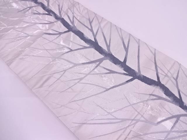 枝葉模様織出し袋帯【リサイクル】【中古】