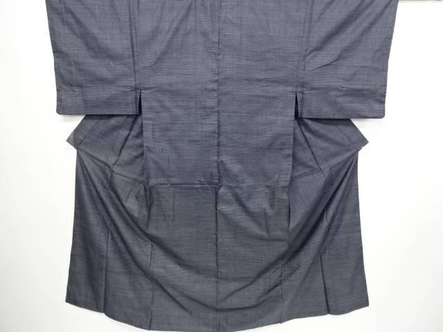 本場正藍泥染大島紬100亀甲男物着物【リサイクル】【中古】