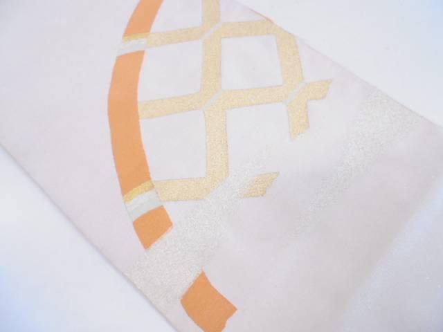 綴れ霞に垣模様織出し袋帯【リサイクル】【中古】