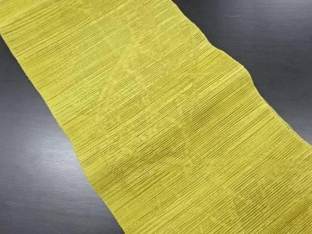 紗よろけ蛇籠模様織り出し名古屋帯【リサイクル】【中古】