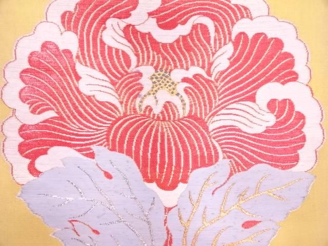 龍村製 一ツ牡丹袋帯【アンティーク】【中古】【09OFF】