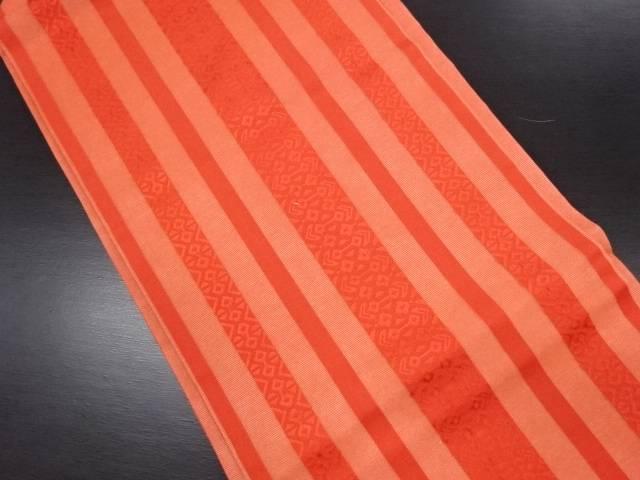 紗縞織り出し名古屋帯【リサイクル】【中古】