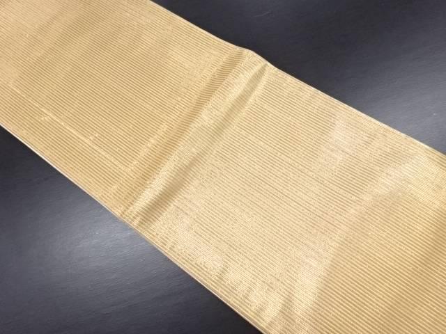 金糸縞織り出し袋帯【リサイクル】【中古】