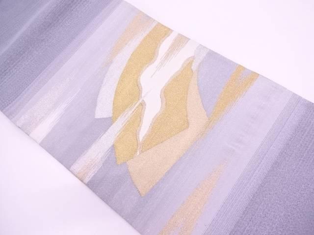 綴れ霞に地紙模様織出し袋帯【リサイクル】【中古】