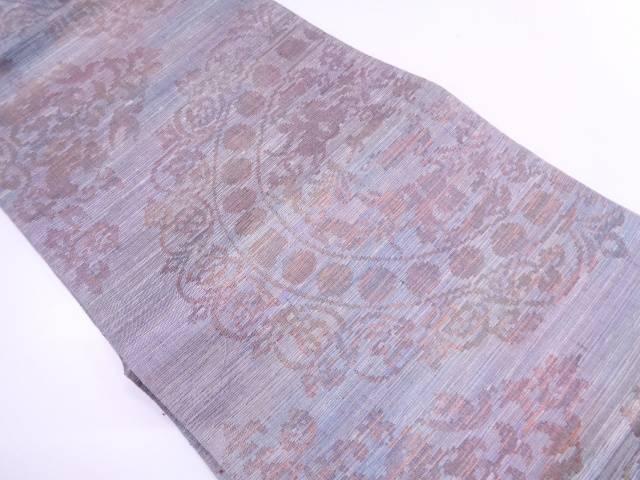 絵皿に抽象動物模様織出し袋帯【リサイクル】【中古】
