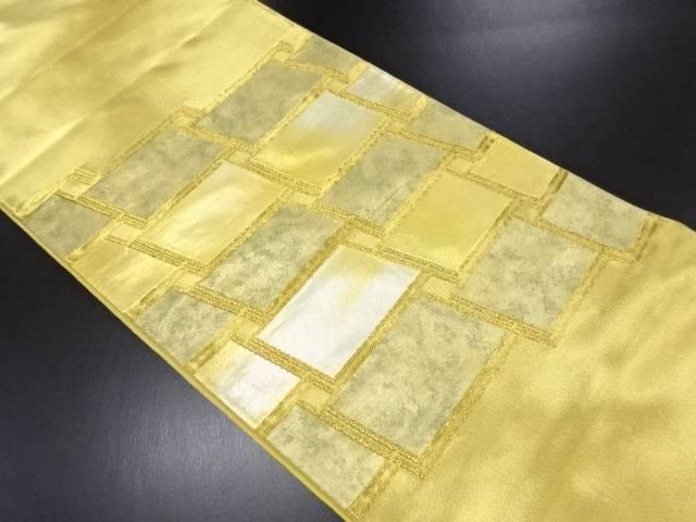 本金変わり石畳模様織り出し袋帯【リサイクル】【中古】